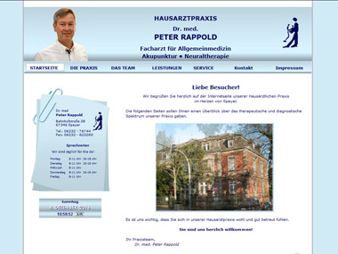 Website Hausarztpraxis Dr. Rappold - Speyer
